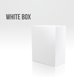 Blank box on white background vector