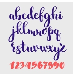 Brush style alphabet vector