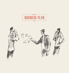 business people meeting planning teamwork a vector image