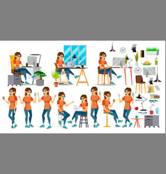 business woman character in action it vector image