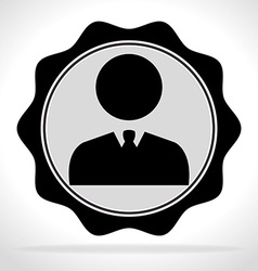 Businessman pictogram icon vector