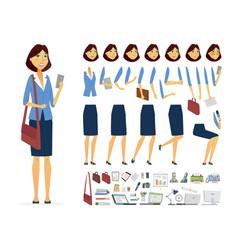 Businesswoman - cartoon people character vector