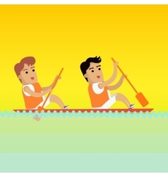 Canoe Rowing Sports Banner vector image