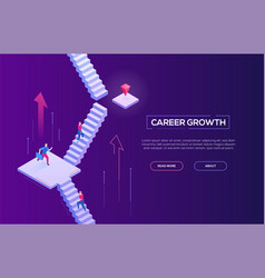 Career growth - modern isometric web banner vector