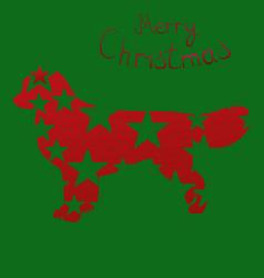 christmas card christmas dog vector image