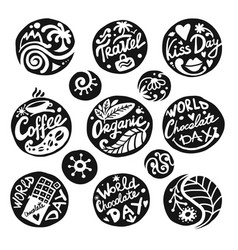 circle icons set sketch for your design vector image