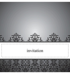 Classic elegant dark card or invitation vector image