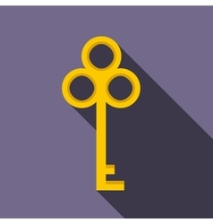 Cold key icon flat style vector