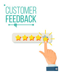 Customer giving rating five star rating vector