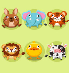 Cute animals cartoons collections vector