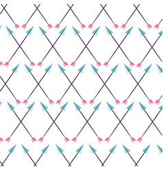 decorative arrows pattern boho style vector image