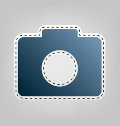 digital camera sign blue icon with vector image