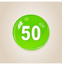 discount button vector image