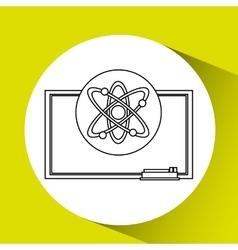 Education concept blackboard physics vector