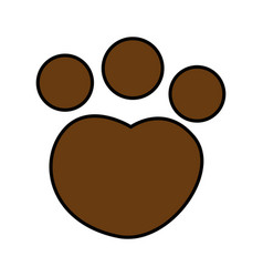 feline paw footprint isolated icon vector image