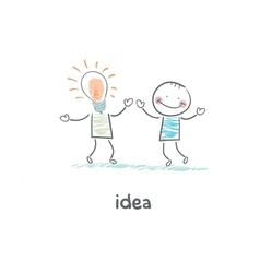 Friendly idea vector image vector image