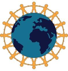 Friendship Around The World Symbol vector