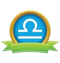Gold Libra logo vector image