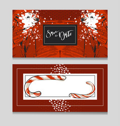 Hand drawn graphic modern merry christmas vector