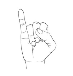 Hand little finger promise signal vector