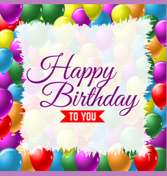 Happy birthday greeting card background with vector