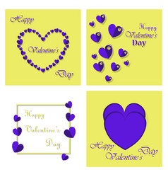 Happy valentines day greeting card beautiful love vector