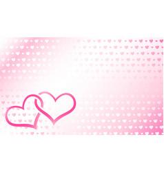 Hearts linked vector