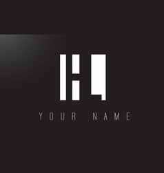 Hl letter logo with black and white negative vector