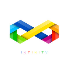 infinity symbol limitless sign vector image