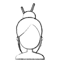 japanese woman avatar character vector image
