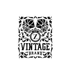 Letter z vintage logo design vector