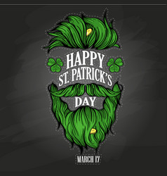 lettring for saint patricks day vector image