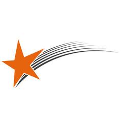 logo flying star meteorite vector image