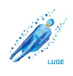 luge sledging cartoon sportsman sledding vector image