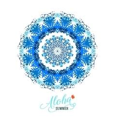mandala round ornament vector image