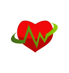 Medical heart logo design template vector