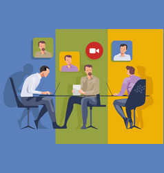 meeting online video call company meeting vector image