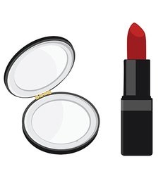 Mirror and lipstick vector image