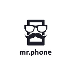 mister phone logo icon template vector image