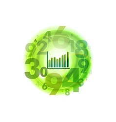 numbers circle green with graph vector image