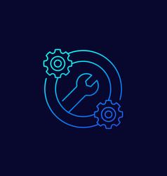 Optimization settings icon linear design vector
