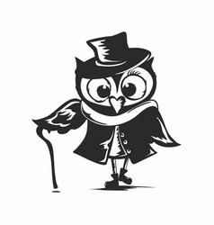 Owl sherlock vector