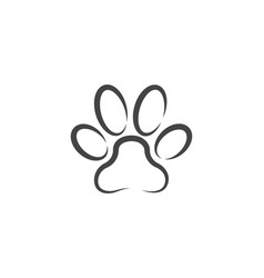 paw icon design vector image