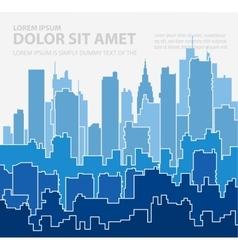 Print cityscape vector image
