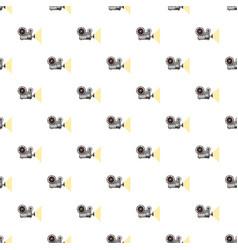 Retro movie projector pattern vector
