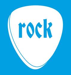 Rock stone icon white vector