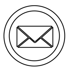 Round symbol letter message icon vector