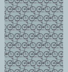 seamless pattern bike silhouette vector image