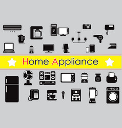 Set home appliance vector