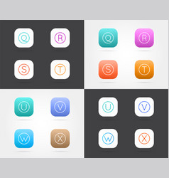 set of app icon templates with guidelines fresh vector image